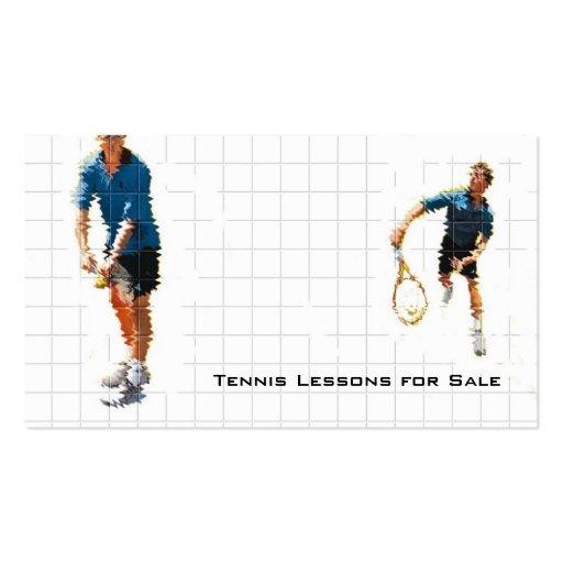 Instrucción del tenis tarjetas de visita