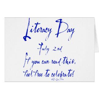 Instrucción día 2 de julio tarjeta de felicitación