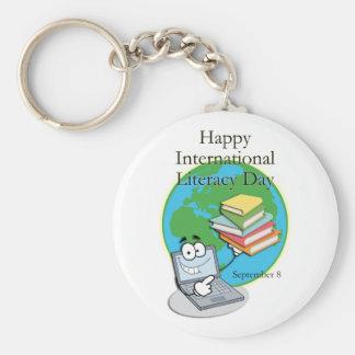 Instrucción día 8 de septiembre internacional llaveros personalizados