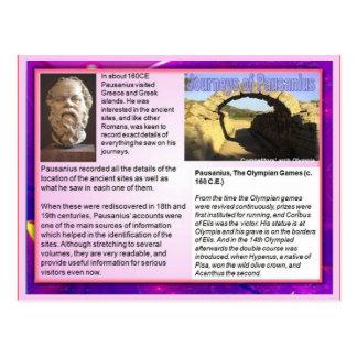 Instrucción, escritura del viaje, viajes de Pausan Tarjeta Postal