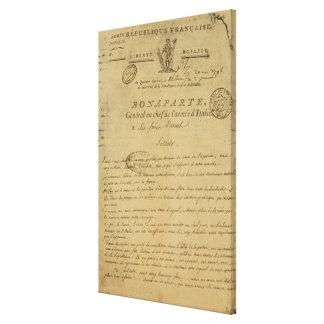 Instrucciones a los soldados publicados por Napole Impresión En Lienzo
