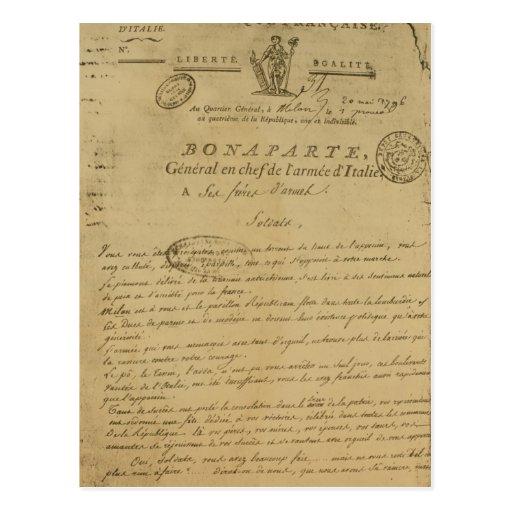 Instrucciones a los soldados publicados por Napole Tarjeta Postal
