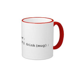 Instrucciones cifradas - café taza de dos colores