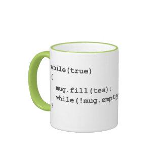 Instrucciones cifradas - té taza de dos colores