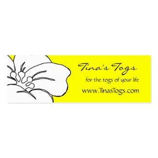 Instrucciones de cuidado florales del tema tarjetas de visita mini
