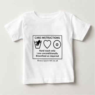 Instrucciones de cuidado playera de bebé