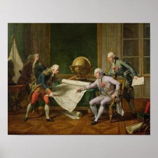 Instrucciones de donante de Louis XVI al La Perous Posters