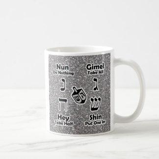 Instrucciones de Dreidel - Hannukah (brillo de Taza De Café