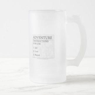 Instrucciones de la aventura taza de cristal