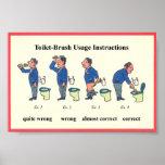 Instrucciones del cepillo del retrete impresiones