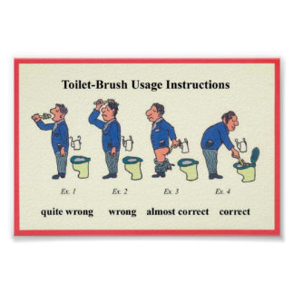 Instrucciones del cepillo del retrete póster