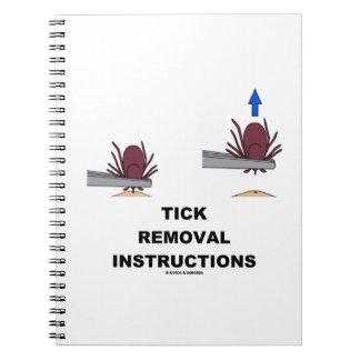 Instrucciones del retiro de la señal ejemplo