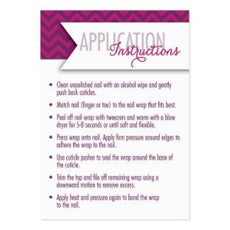 Instrucciones del uso/tarjetas des siete días del tarjetas de visita grandes