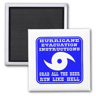 Instrucciones en caso del huracán imán de frigorífico