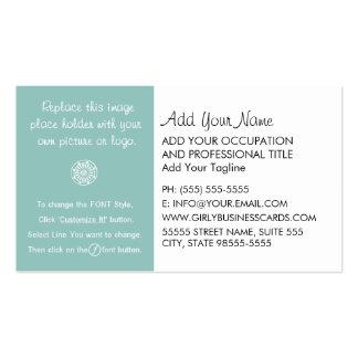 Instrucciones femeninas de la plantilla tarjetas de visita