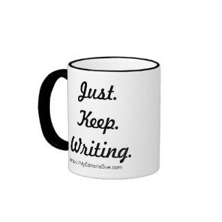 Instrucciones para los escritores taza a dos colores
