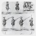 Instrucciones para un taladro de la bayoneta calcomania cuadrada personalizada