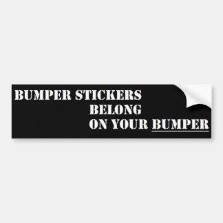 Instructional Bumper Sticker