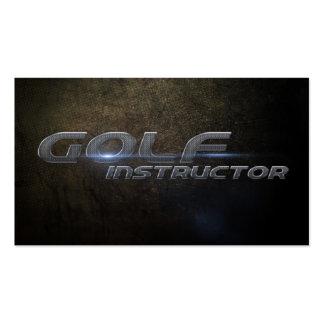 Instructional golf business card