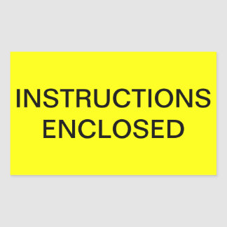 Instructions Enclosed Shipping Label Rectangular Stickers