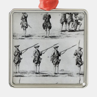 Instructions for a Bayonet Drill Square Metal Christmas Ornament