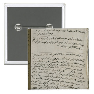Instructions issued by Friedrich Wilhelm I 2 Inch Square Button