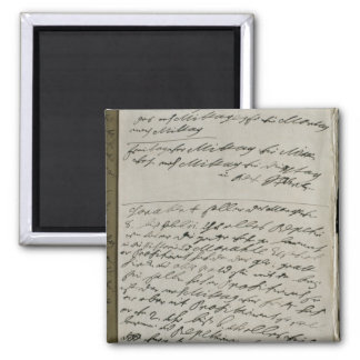 Instructions issued by Friedrich Wilhelm I 2 Inch Square Magnet