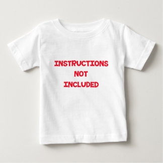 Instructions Not Included - Red Baby T-Shirt