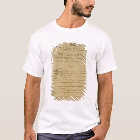 Instructions to soldiers issued by Napoleon T-Shirt