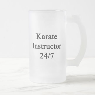 Instructor 24/7 del karate taza cristal mate