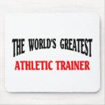 Instructor atlético alfombrilla de raton