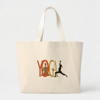 Instructor atlético de la yoga de la aptitud bolsa tela grande