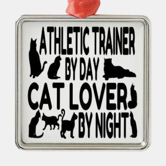 Instructor atlético del amante del gato adorno de reyes