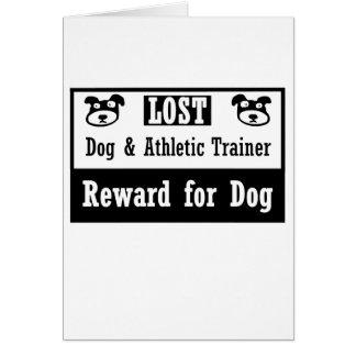 Instructor atlético del perro perdido tarjeta pequeña