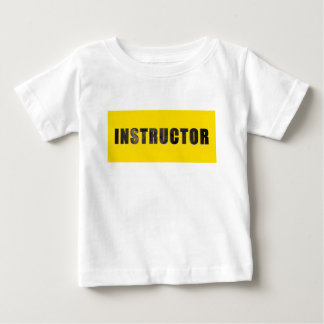 Instructor Chiseled Text Baby T-Shirt