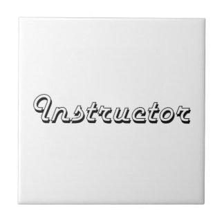 Instructor Classic Job Design Small Square Tile