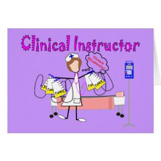 """Instructor clínico regalos de """"esos estudiantes"""" tarjetón"""