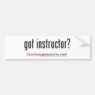 ¿instructor conseguido pegatina para el parachoqu pegatina de parachoque