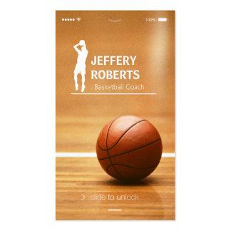 Instructor creativo del baloncesto del entrenador tarjetas de visita