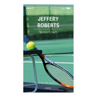 Instructor creativo del tenis del coche de tenis tarjetas de visita
