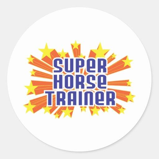 Instructor de caballo estupendo pegatinas