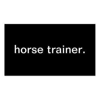 Instructor de caballo tarjetas de visita