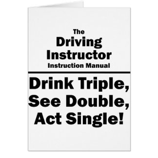 instructor de conducción tarjeta pequeña