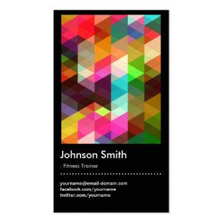 Instructor de la aptitud - modelo de mosaico color tarjeta personal