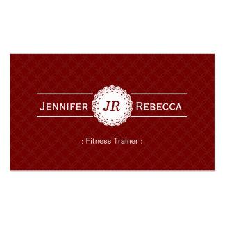 Instructor de la aptitud - rojo moderno del monogr plantilla de tarjeta personal