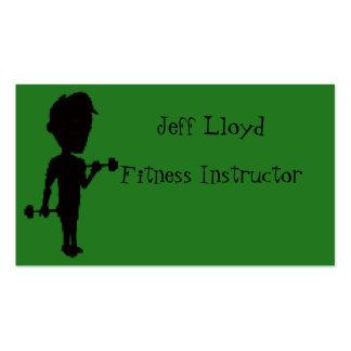 Instructor de la aptitud tarjetas de visita