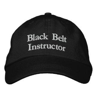 Instructor de la correa negra gorro bordado