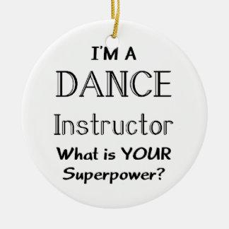 Instructor de la danza adorno redondo de cerámica