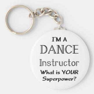 Instructor de la danza llavero redondo tipo pin
