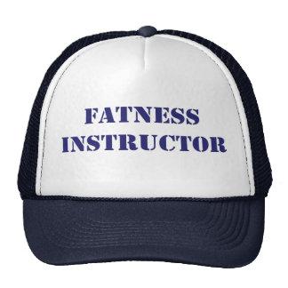 Instructor de la gordura gorros